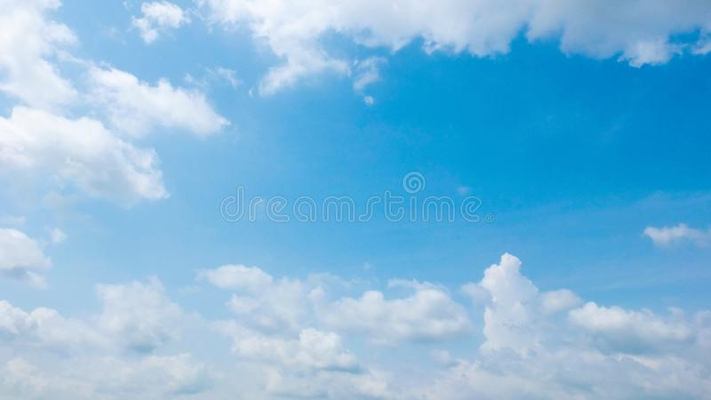 Blue sky with cloud in summer. stock image
