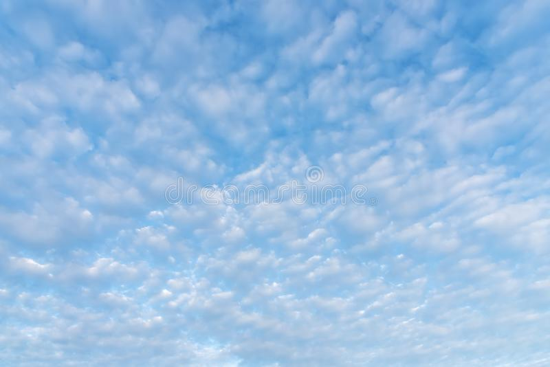 Blue sky with cloud in summer. Environment and Nature background. Picture for add text message. Backdrop for design art work stock photography