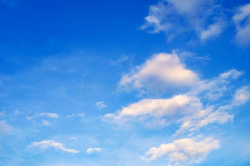 Blue sky with cloud summer stock photo