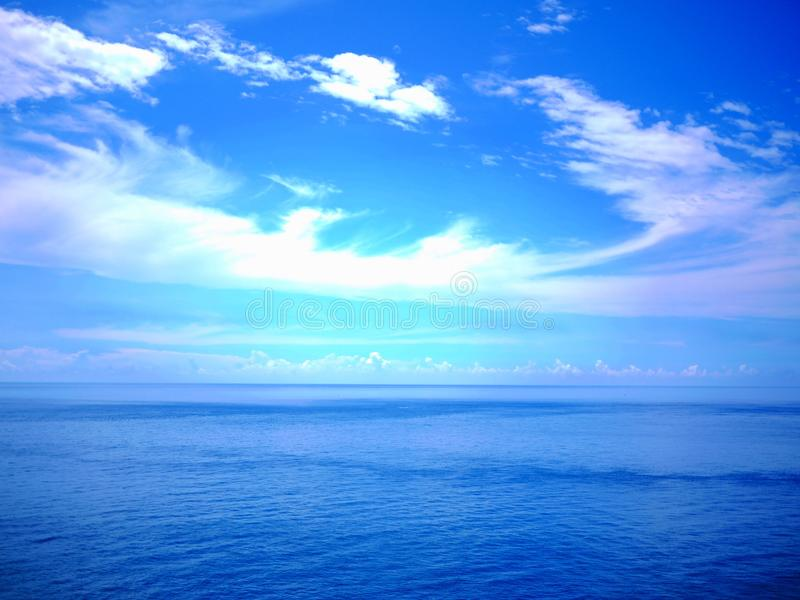 Blue sky, cloud and water royalty free stock images