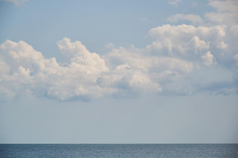 Blue sky with cloudover the sea, nice weather. Blue sky with cloud, nice weather royalty free stock image