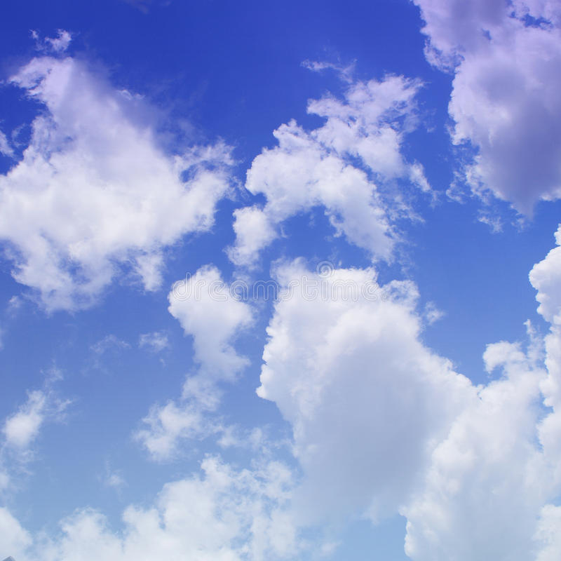 Download The blue sky with clouds stock photo. Image of landscape - 27554130