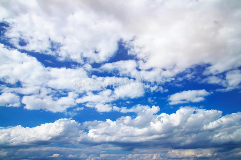 Download Blue sky with clouds stock image. Image of plane, outdoor - 28396965