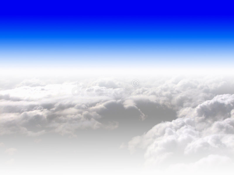 Download Blue sky and clouds stock photo. Image of flight, blue - 5178118