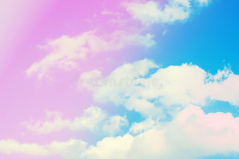 Blue sky and clouds  abstract  spring ,summer  nature  with  pastel  filter effect. Blue sky and clouds  abstract  spring ,summer  nature with  pastel  filter royalty free stock images