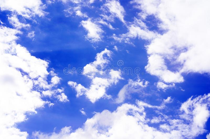 Blue sky with clouds background. Sky with clouds royalty free stock photos