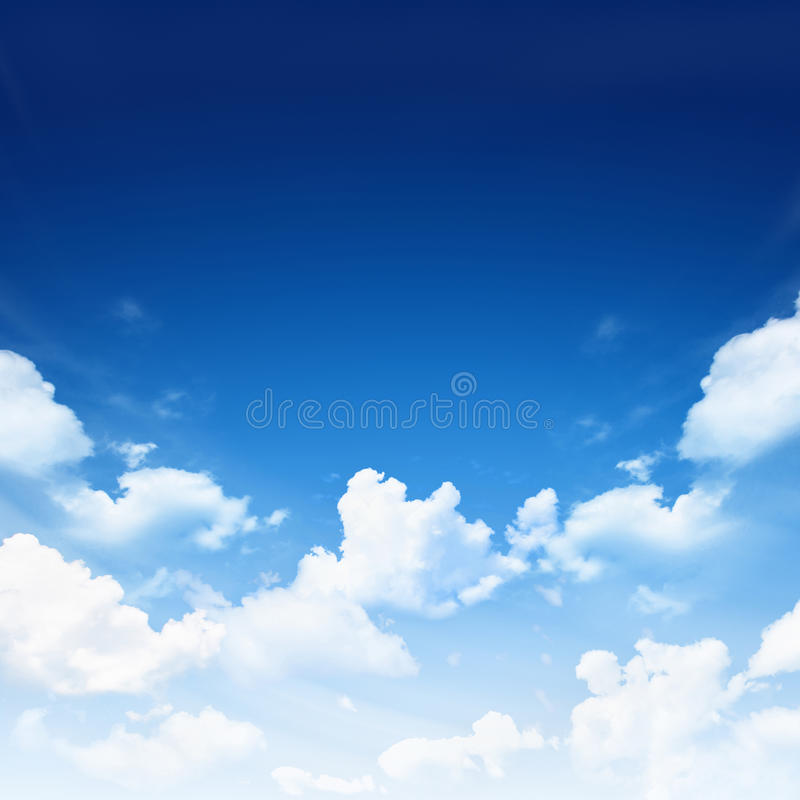 Download Blue sky with clouds stock image. Image of weather, high - 39464253