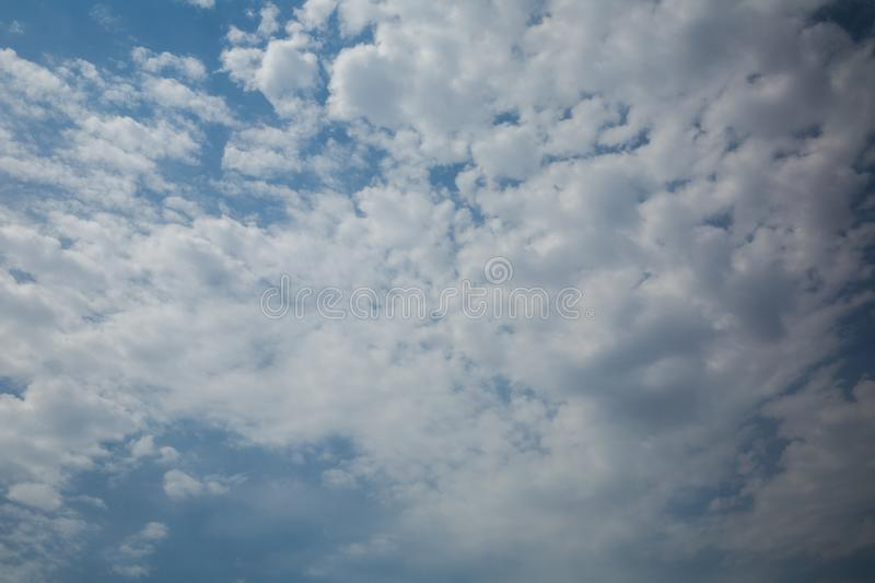 Blue sky and clouds background material. Blue sky with white clouds.blue sky with cloud closeup royalty free stock images