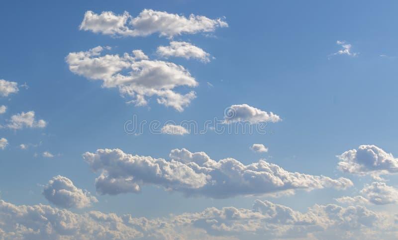 Blue sky and clouds sky, blue sky background. Sky panorama stock photography