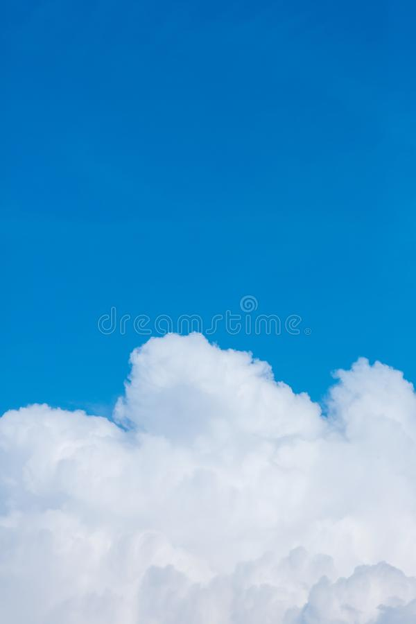 Blue sky with clouds background.Sky daylight. Natural sky composition. Element of design stock photography
