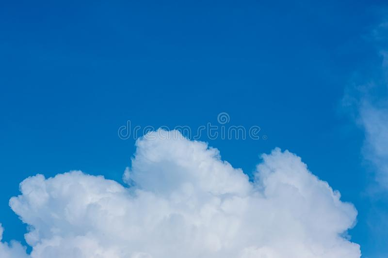 Blue sky with clouds background.Sky daylight. Natural sky composition. Element of design royalty free stock image