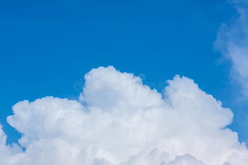 Blue sky with clouds background.Sky daylight. Natural sky composition. Element of design stock images