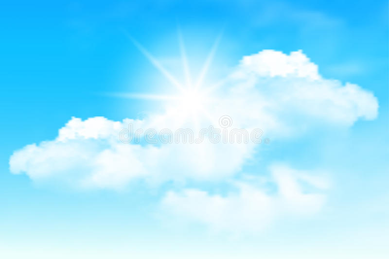 Blue sky and clouds vector illustration