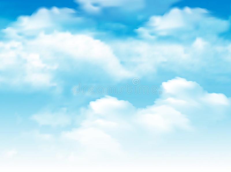 Blue sky with clouds background. royalty free illustration