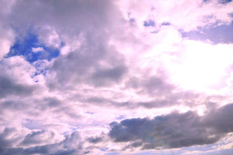 Blue sky with clouds. Color stock images