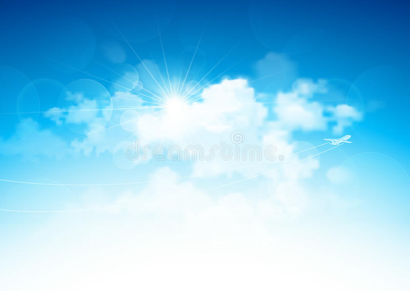 Download Blue sky and clouds stock vector. Image of atmosphere - 37283096