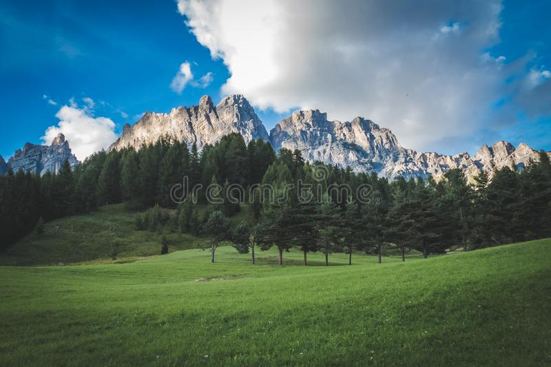 Blue, Sky, Clouds, Countryside royalty free stock photos