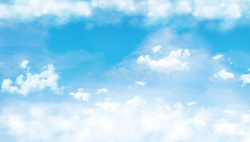 Blue sky with clouds. 3D Rendering