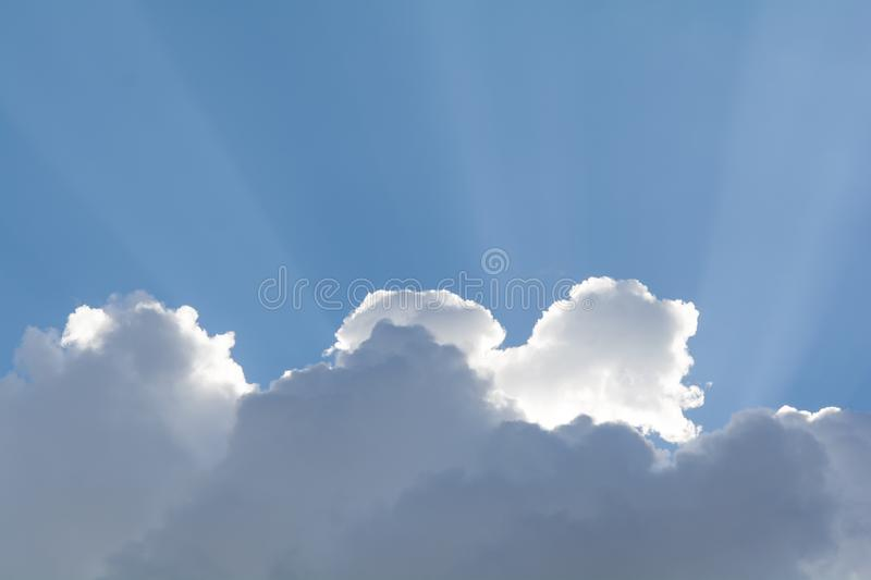 Blue sky clouds in the day. And sunlight royalty free stock image
