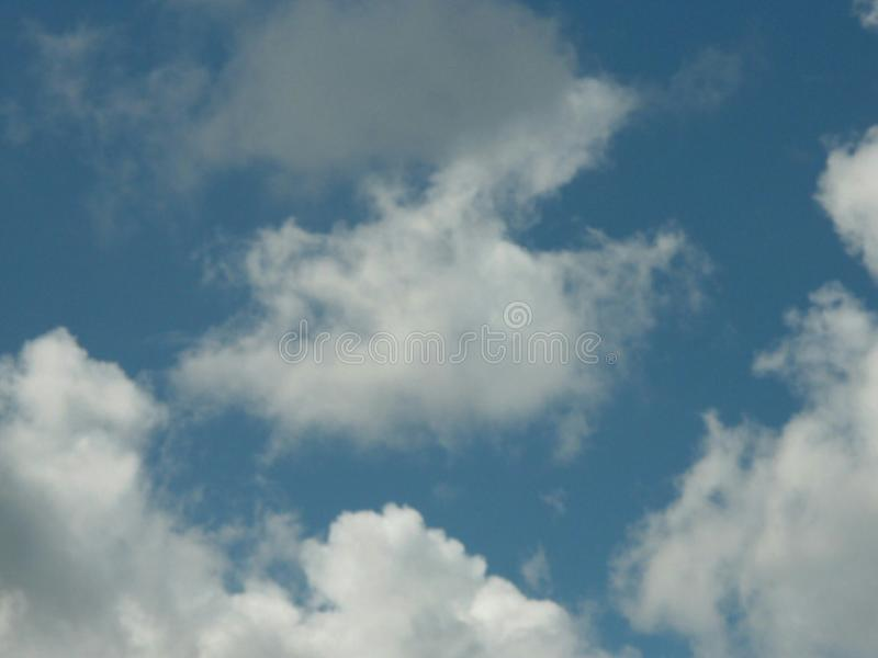 Blue sky with clouds royalty free stock photos