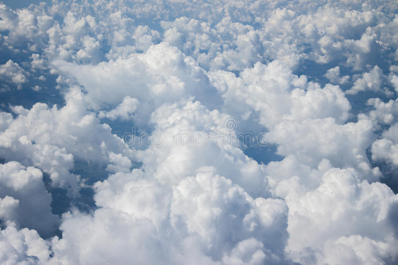 Blue sky and the clouds stock photography