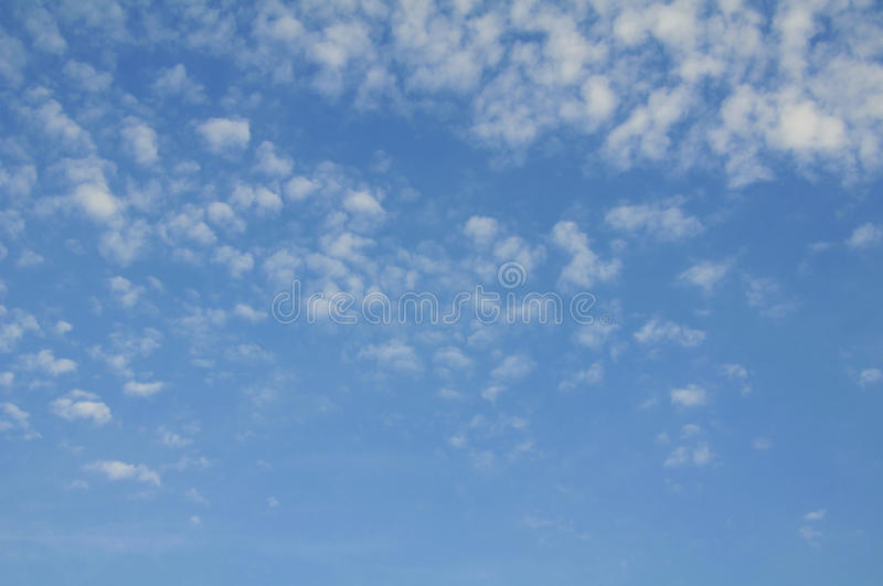 Blue sky with clouds. Blue sky with many small clouds stock photos