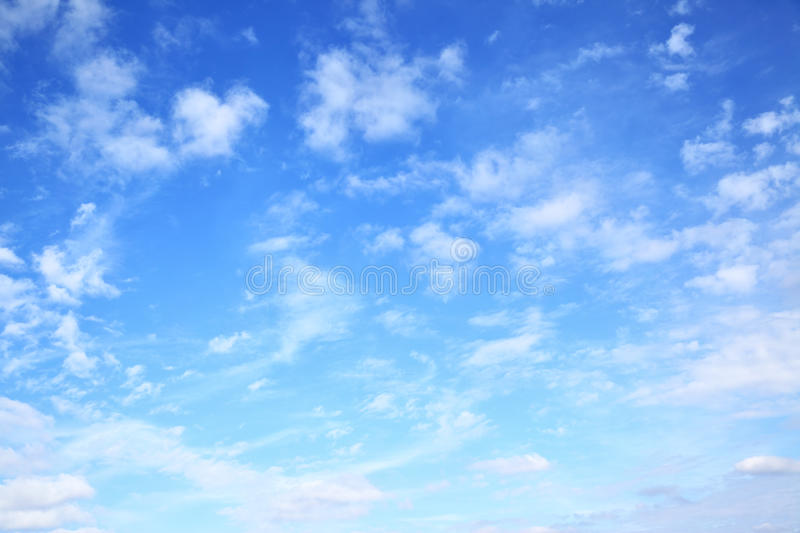 Blue sky with clouds. Natural background