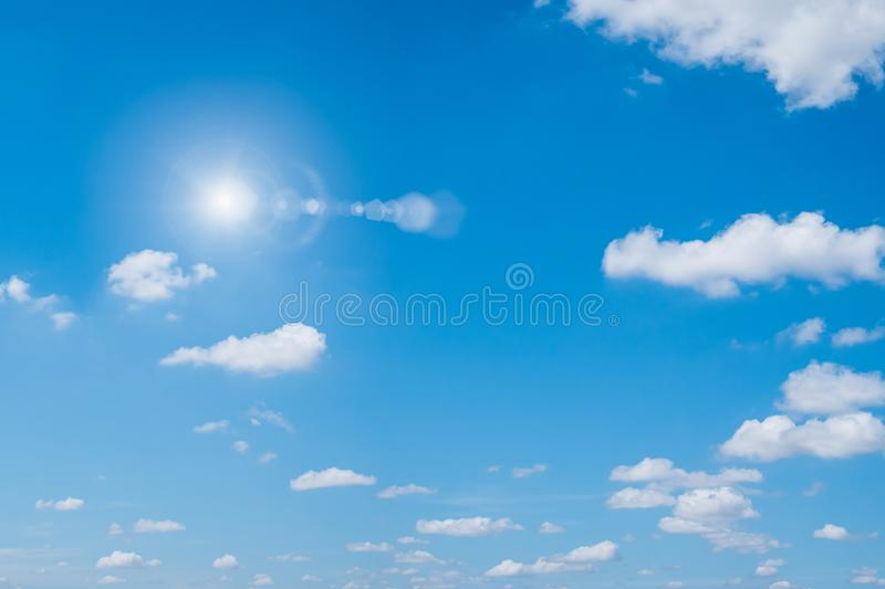 Blue sky and clouds natural background stock images