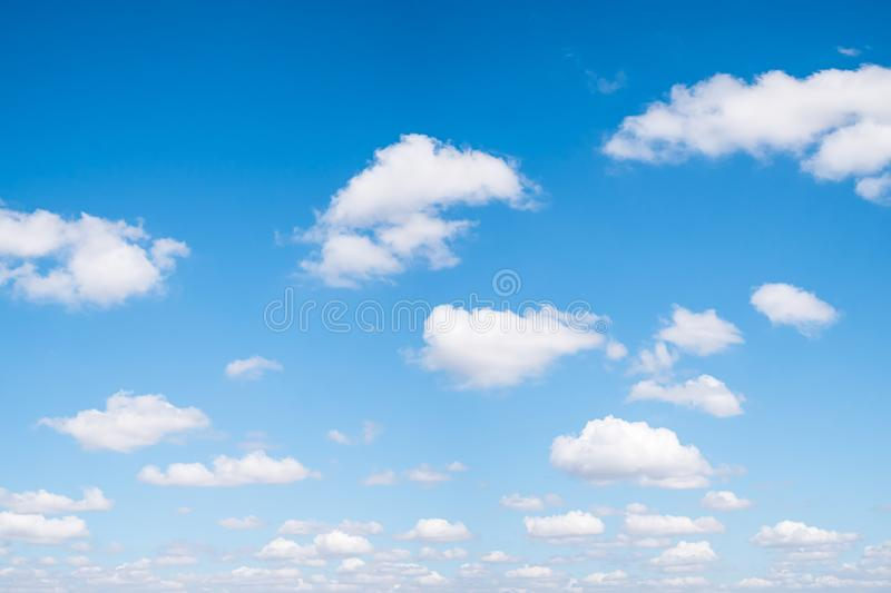 Blue sky and clouds natural background royalty free stock image