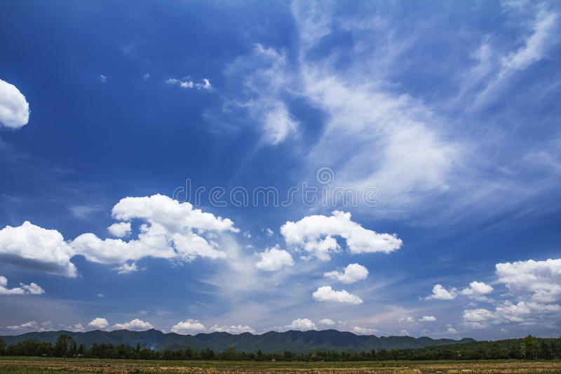 Download Blue sky and clouds stock image. Image of field, altitude - 33271527