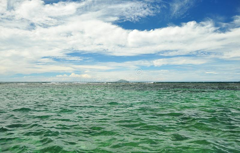 Download Blue Sky With Clouds And Ocean Stock Photo - Image: 19371686