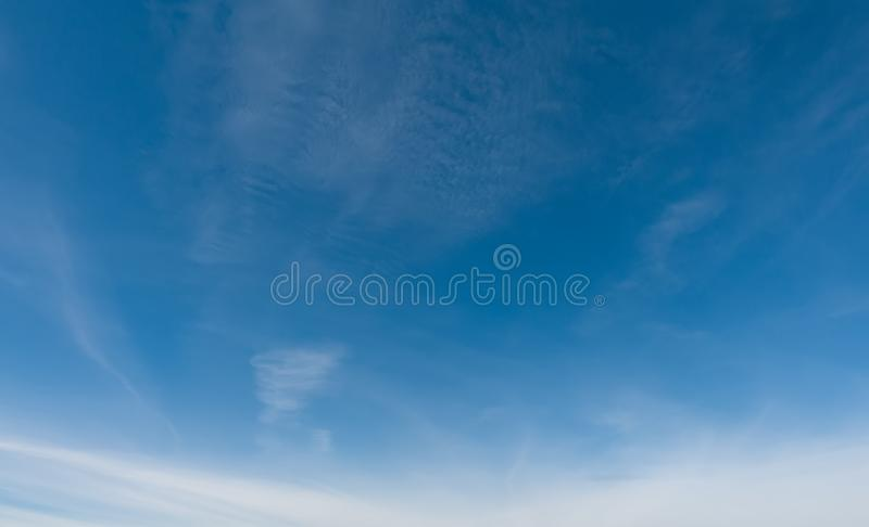 Blue sky and clouds. Professional shoot without birds and noise. Professional shoot without birds and noise royalty free stock photos