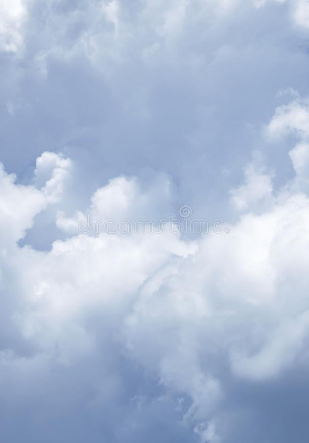 Blue sky with clouds. And sun stock photography