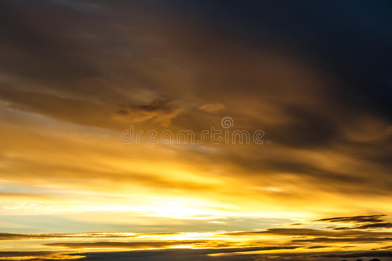 Blue sky with clouds before sunset royalty free stock photography
