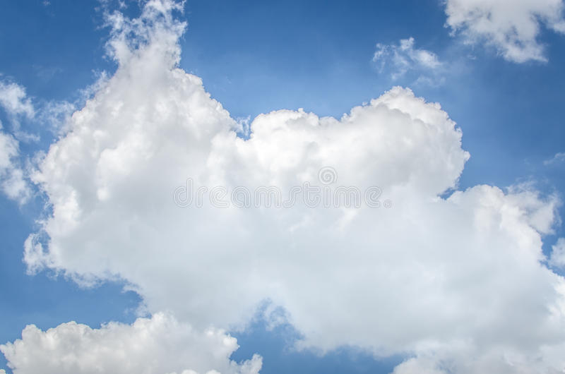Blue sky and clouds, used as background royalty free stock image