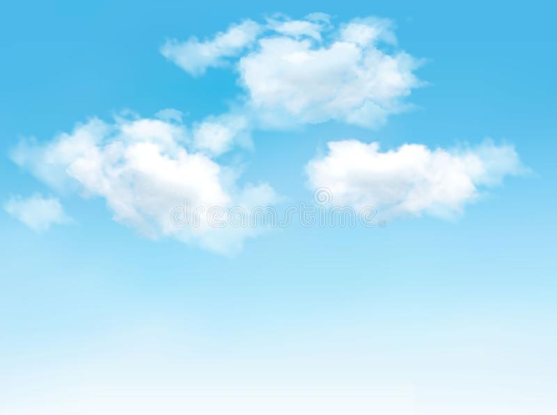 Blue sky with clouds. Vector. Background royalty free illustration