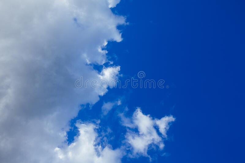 Blue sky and cloudscape royalty free stock photo