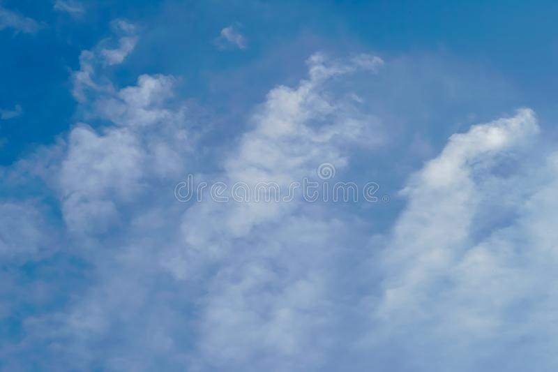 Blue sky with cloud bright. Blue sky with cloudy at after noon stock image