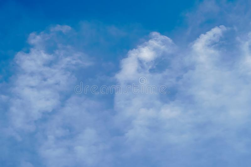 Blue sky with cloud bright. Blue sky with cloudy at after noon stock photography