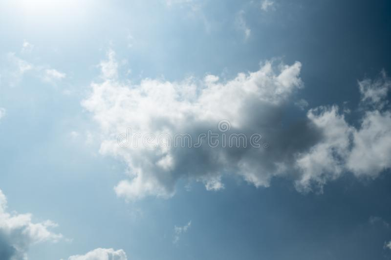 Blue sky color with clouds background photo stock photography