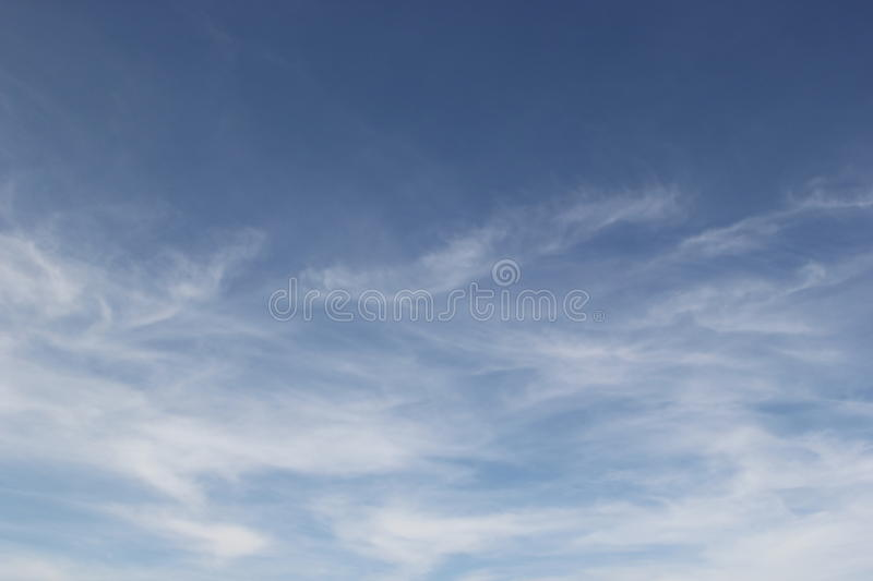 Blue sky. And Coulds are natural phenomenon beautiful royalty free stock photography