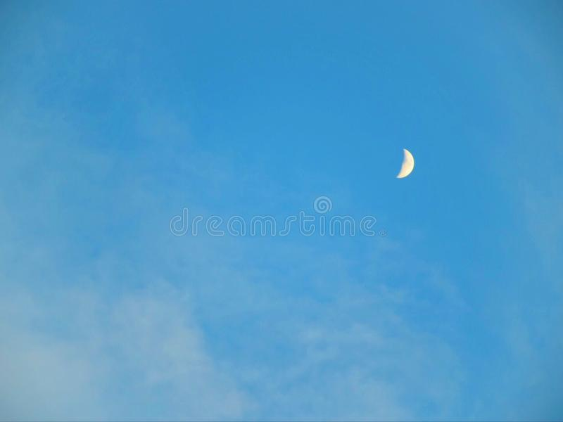 Blue Sky and crescent royalty free stock image