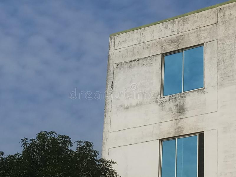 BLUE SKY DAY TIME COLLEGE BUILDING stock image