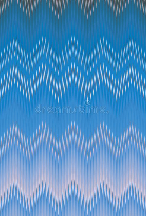 Blue sky denim chevron zigzag. art wallpaper stock illustration