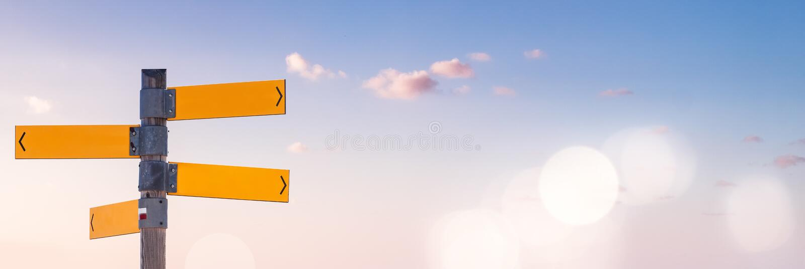 Blue Sky and Directions royalty free stock photography