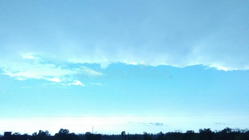 The blue sky stock photography