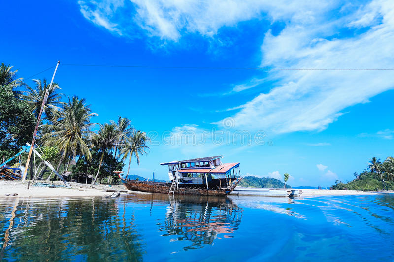 Blue Sky fishery lake royalty free stock images