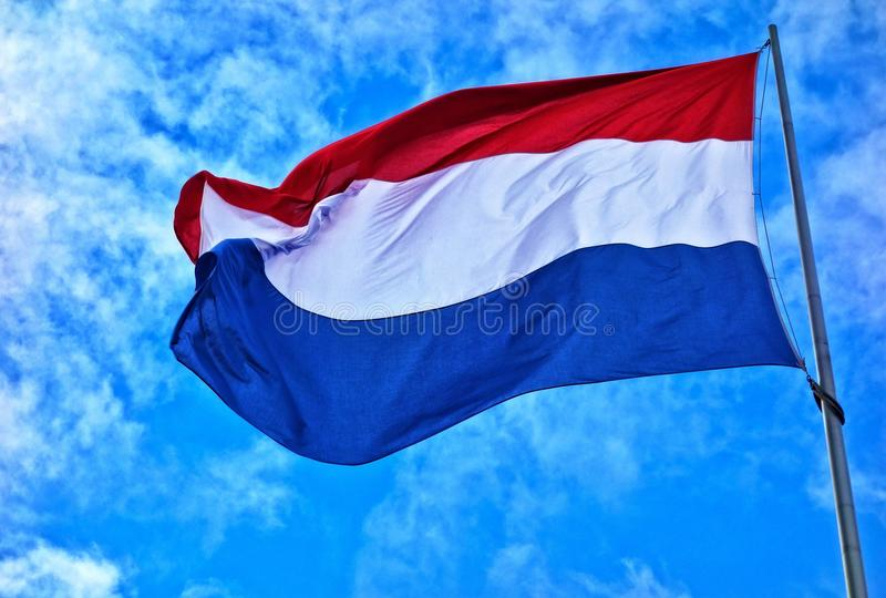Blue, Sky, Flag, Azure royalty free stock images