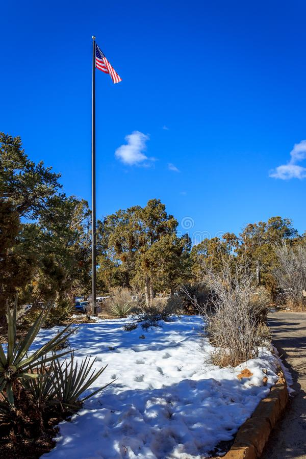 Blue sky flag royalty free stock photos