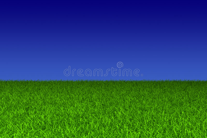 Download Blue sky and green grass stock illustration. Image of season - 5099581